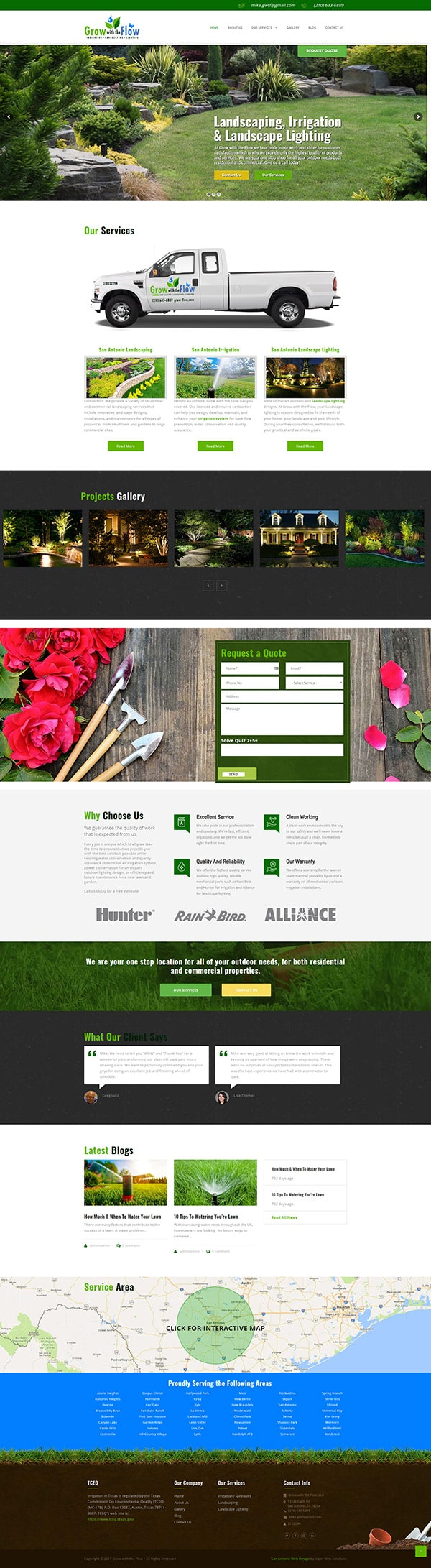 San Antonio Web Design - Grow With The Flow