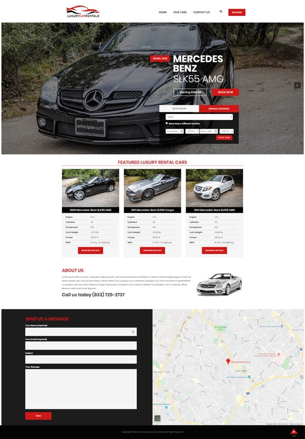 San Antonio Web Design - San Antonio Luxury Car Rentals