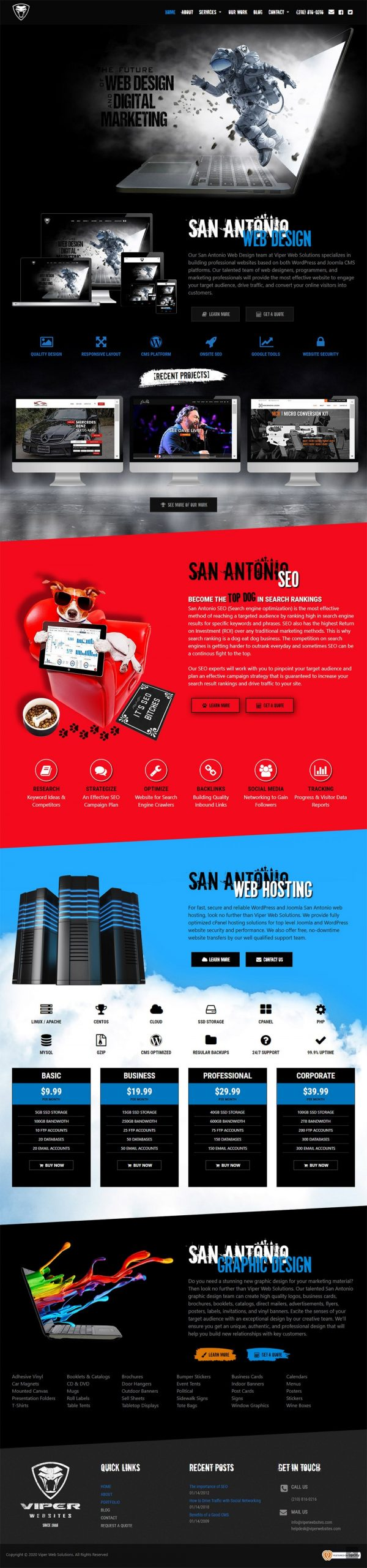 San Antonio Web Design - Viper Web Solutions